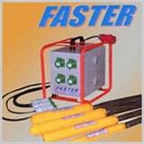 'FASTER� High Frequency	(Motor-in-Head) , 'FASTER� High And Normal Frequency External, 'FASTER� Immersion Vibrator With Static Convertor, 'FASTER� High Frequency Rotory Convertor , 'FASTER� Dam Constructions Vibrators , 'FASTER� High Frequency Motor In Head Paver Vibrators , 'FASTER� Electro Magnatic Vibratory Feeder,  'FASTER� Electro Magnatic External Vibrators .
